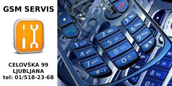 Servis GSM aparatov v Ljubljani: iPhone, Samsung, Nokia, LG, ...