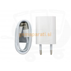 Apple HIŠNI POLNILEC adapter A1400 + podatkovni kabel MD818 iPhone X, 8, 8 plus, 7, 7 plus, 6, 6 plus, 5s, 5C ORIGINAL